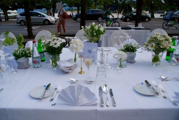 white dinner